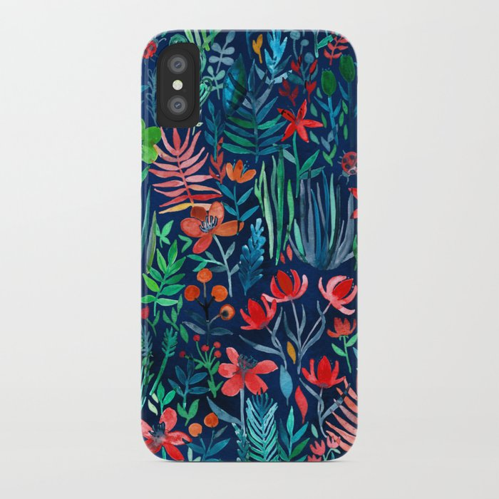 tropical ink - a watercolor garden iphone case