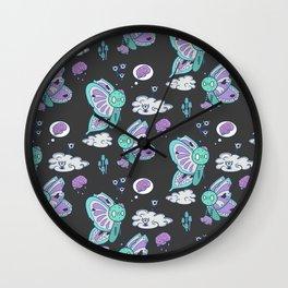 Zombie Butterflies-Nightlight Wall Clock