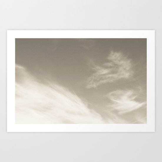 Cream Summer sky  Art Print