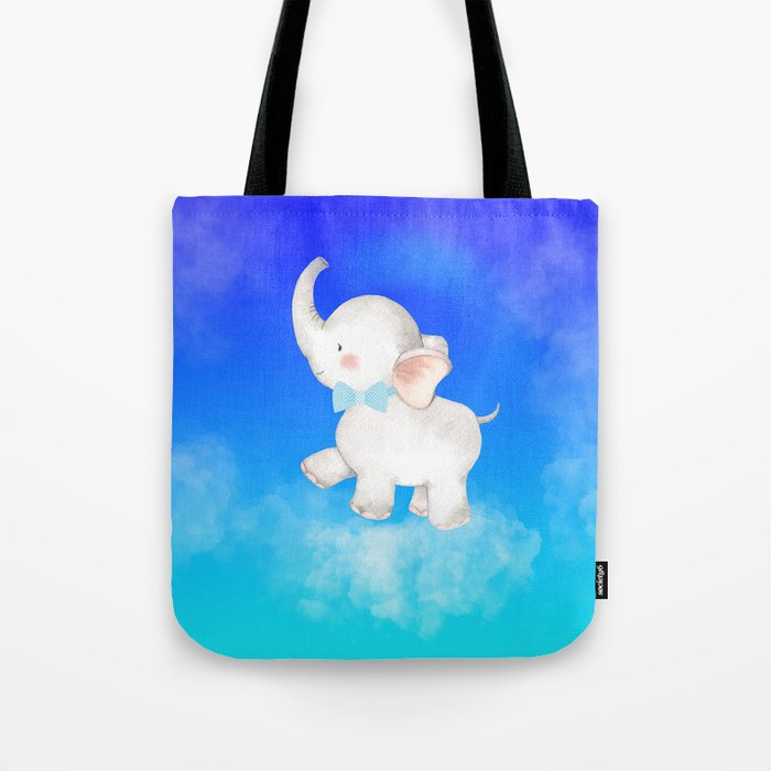 Elephant in the Clouds Tote Bag