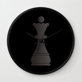Black queen chess piece Wall Clock