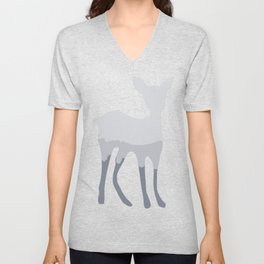 Magic cute Minimal deer illustration Unisex V-Neck