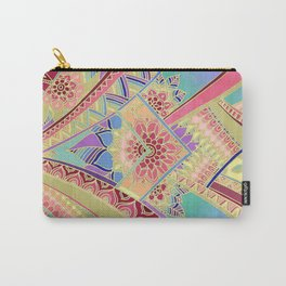 Rise and Shine - Rainbow Hued, Multi-Colored Doodle Carry-All Pouch
