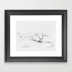 Scots Pine, Gray Framed Art Print