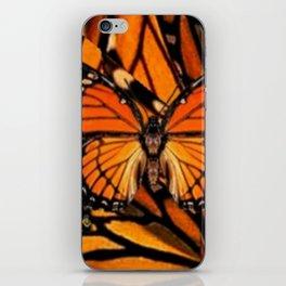 ORANGE MONARCH BUTTERFLY PATTERNED ARTWORK iPhone Skin