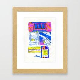 packet of cigarettes Framed Art Print