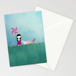 Little girl Stationery Cards