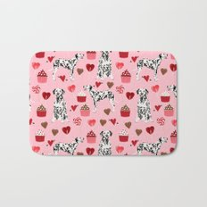Dalmatian valentines day cupcakes and hearts love dog breeds dog lovers valentine Bath Mat