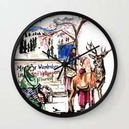 A piece of Kashmir Wall Clock