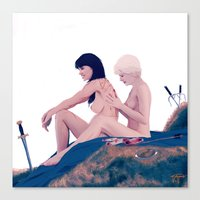 xena Canvas Prints featuring I Care Because You Do. by Mastodon