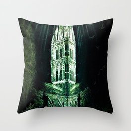 Memorial Glass Prism Engraving at Salisbury Cathedral by Rex Whistler Throw Pillow