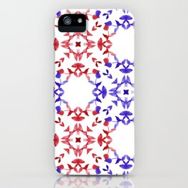 Red&blue ornaments iPhone Case