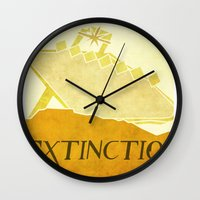 resident evil Wall Clocks featuring Resident Evil Extinction by JackEmmett