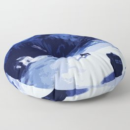 Tardis Art At The Snow Mountain Floor Pillow