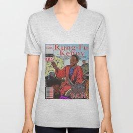 Kung Fu Kenny Comic #2 YAH. Unisex V-Neck