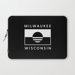 Milwaukee Wisconsin - Black - People's Flag of Milwaukee Laptop Sleeve