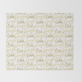 Live Laugh Love II Throw Blanket