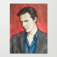benedict Canvas Prints featuring Benedict by IamDeirdre