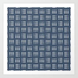 Mudcloth | Classic Blue Art Print