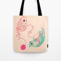 tangled Tote Bags featuring Tangled by Nan Lawson