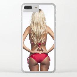 teen horny curvy pinup slutty s&m lingerie rear boobs ass posterior vehicle cute sex boobies butt po Clear iPhone Case