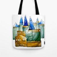 castle Tote Bags featuring Castle by Irina  Mushkar'ova