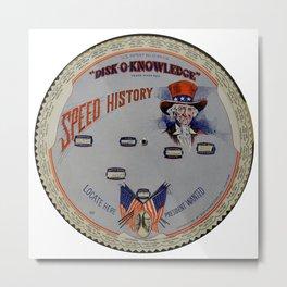 Speed History Metal Print