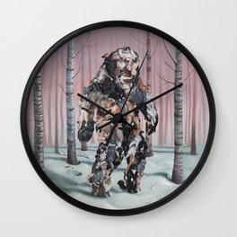Catsquatch II Wall Clock