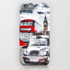 Westminster Bridge London snow iPhone 6s Slim Case