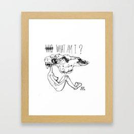 what am i Framed Art Print