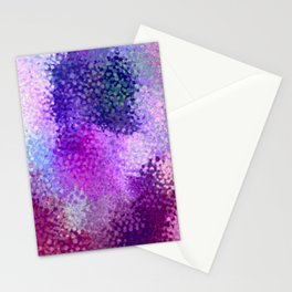 Absctract art watercolor art violet lilac minimalist poster Stationery Cards