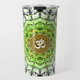GREEN OM MANDALA Travel Mug