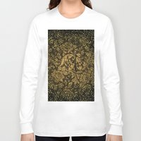 decorative Long Sleeve T-shirts featuring Decorative damask by nicky2342