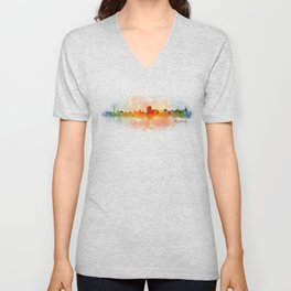 Rome city skyline HQ v03 Unisex V-Neck