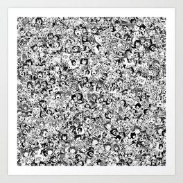 Ahegao Art Print
