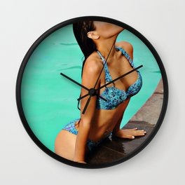Sexy Pool Wall Clock