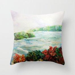Serene - Niagara Falls Throw Pillow