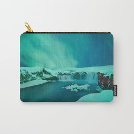 Waterfall of the Gods, Iceland #society6 #decor #buyart Carry-All Pouch