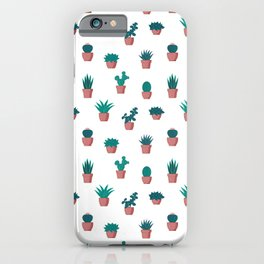 Cacti and Succulents Pattern iPhone Case