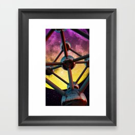 Atomium in space Framed Art Print