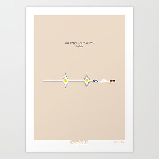 Moviesound: The Royal Tenenbaums - Richie Art Print