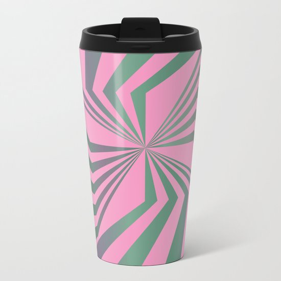 Broken Lines - Optical games Metal Travel Mug