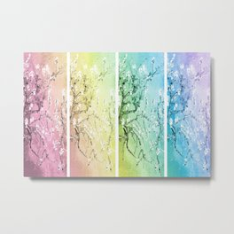 Van Gogh Almond Blossoms : Pastel Rainbows Panel Art Metal Print
