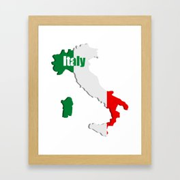 Italy map Framed Art Print