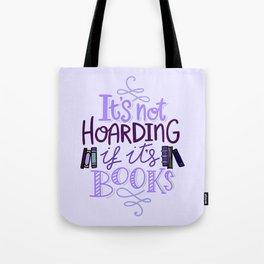 Book Hoarder - Purple Tote Bag