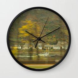 Rhein River Wall Clock