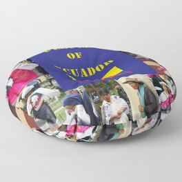 The People of Ecuador, Collage Floor Pillow