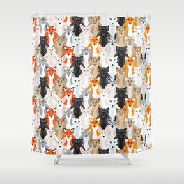 Friendly Foxes Shower Curtain