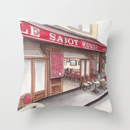 Frites and Mayo in Montmartre Throw Pillow