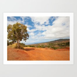 The red dirt road Art Print